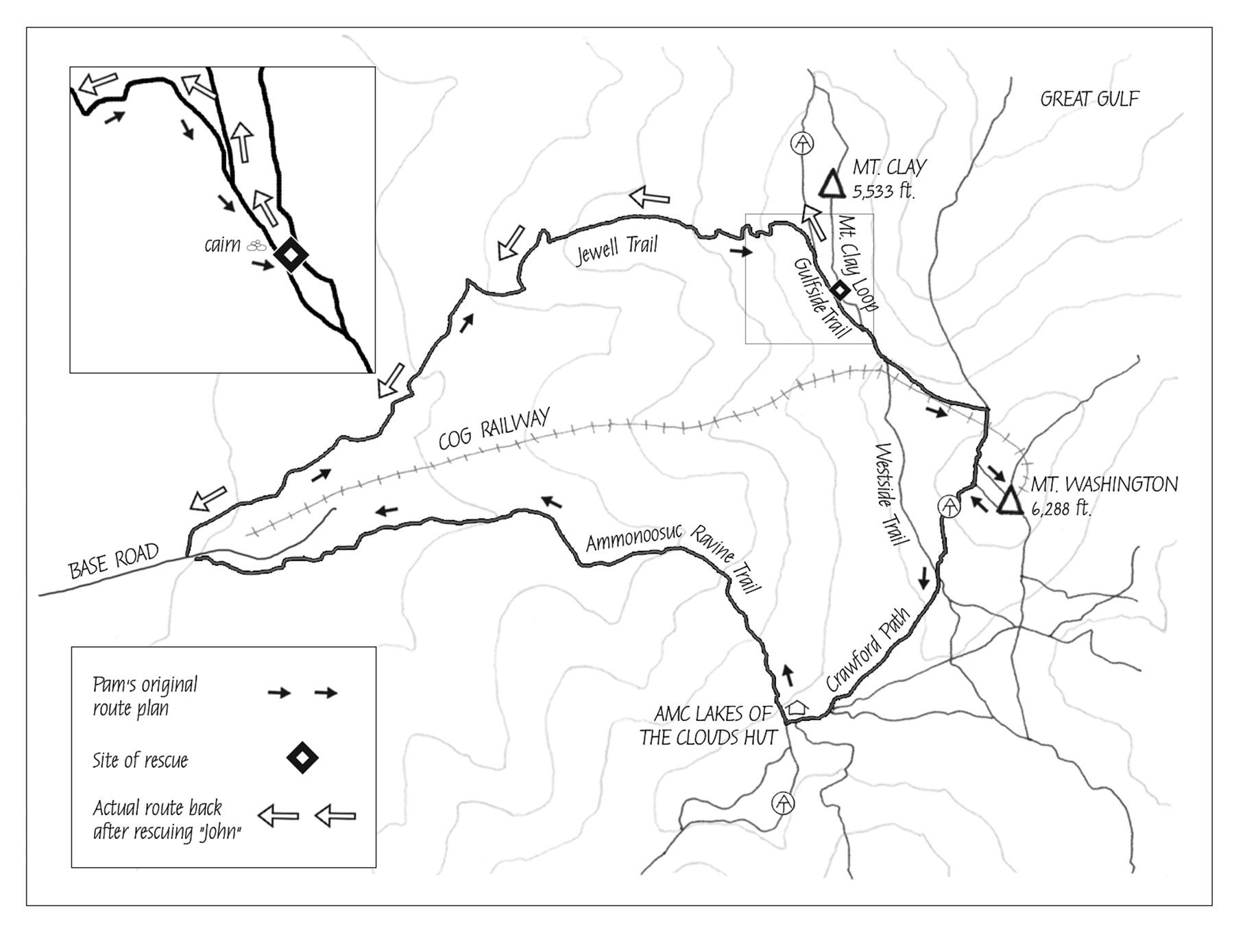 Jewell Trail Mt Washington Map.Emotional Rescue Appalachian Mountain Club